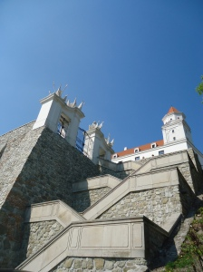 Steps leading to the Castle in Bratislava, Slovakia
