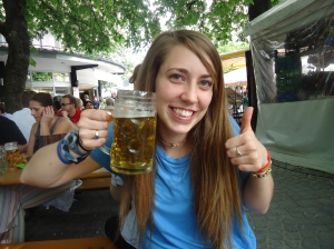 Beer Garden in Munich, Germany