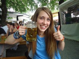 Beer Garden in Munich, Germany