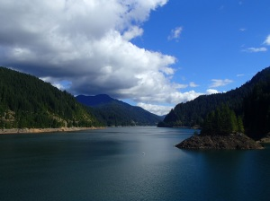 Driving through the Willamette National Forest, we stumbled upon this amazing view of the Cougar Reservoir.