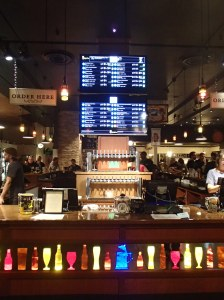 The counter at The Bier Stein includes a digital menu of the beers on tap; the menu also states the individual beer's facts for the true beer connoisseur.