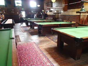 The game room is a great place for your competative side to come out -- pool, table-top shuffle board, and pinball machines all bring life to this part of the building.