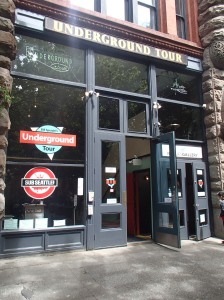 The Underground Tour cafe and meeting point in the Pioneer Square.