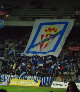 Signs of support for the fútbol team, Real Oviedo