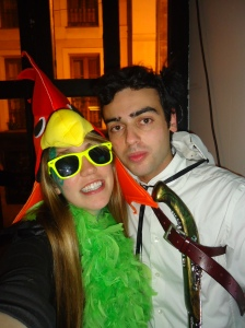 My friend Héctor and myself celebrating Carnival in Oviedo, Spain