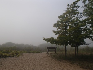 Hazy mornings at Leelanau State Park
