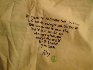 The message my boyfriend wrote on my sleep sheet.