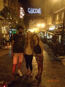 Hector, myself, and Rebeca - friends from when I studied abroad on Calle Gasgona (the cider street!). It was great to see them again