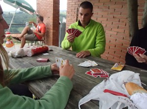 Playing cards with some new found friends. This was the day that I met the three people I would spend the majority of the rest of the trip with!
