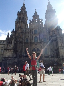The most rewarding travel experience, arriving in Santiago after walking 330km across Northern Spain on my own