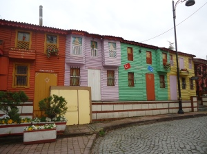 Some multicolored buildings we came across in the back alleys of Istanbul, Turkey.