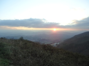 Sunset from Mt. Naranco