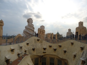 The roof of Casa Pedrera
