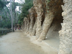 Crazy, fun pathways in Parque Güell.