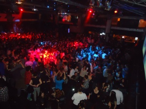 A sea of people on the main floor in Razzmatazz