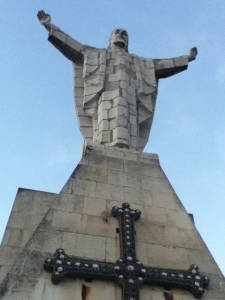 Upon Mt. Naracno sits a staute of Jesús Cristo overlooking the city of Oviedo