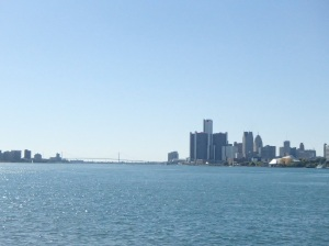 The first stop was Belle Isle, where we could see both the Detroit and Canadian skyline.