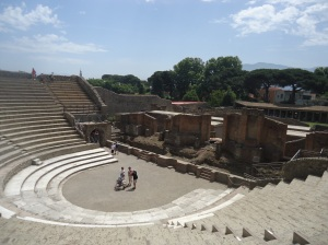 The amphitheater in Pompeii -- used for public announcements and performances