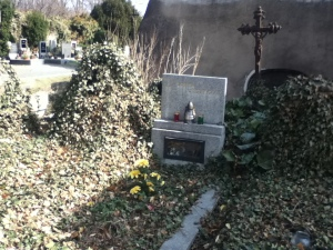 Some of the old grave sites situated outside of the ossuary