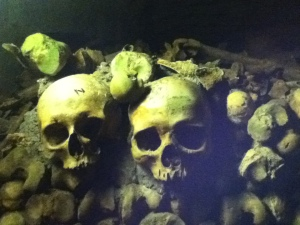 The Catacombs beneath the surface of Paris.
