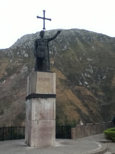 Pelayo, a well known figure of Asturias for defeating the Moors in the Battle of Covadonga.