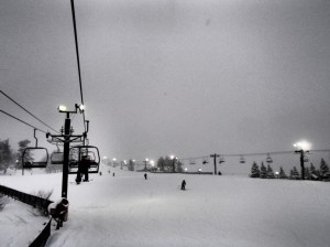 Literally, white out conditions on the slopes