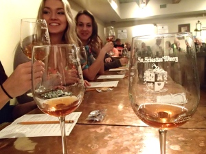 Wine tasting with a few friends at San Sebastian Winery