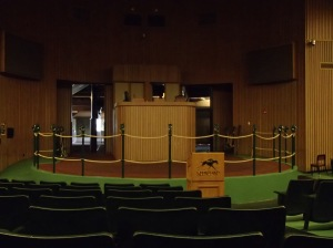The interior of the auction room at Keenland