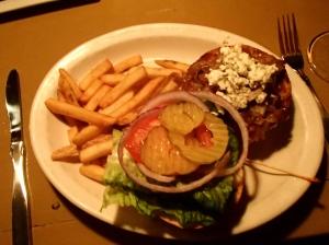Duffy's veggie burger, YUM!