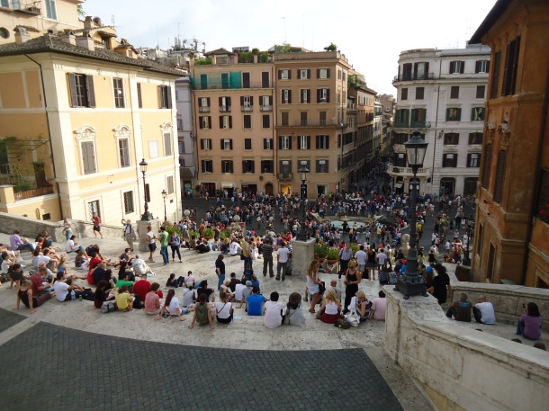 People Watching at the Spanish Steps, Rome