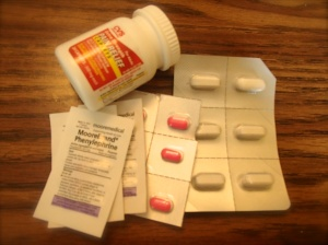 Painkillers, Phenylephrine, allergy tablets, Imodium tablets