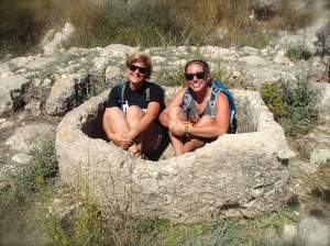 Hanging out in an ancient water basin