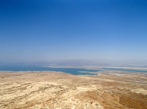 Overlooking the Dead Sea from Masada