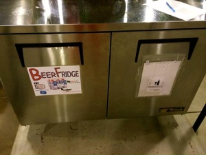 Beer Fridge, YES! (Photo Credit: Abbey Murphy)