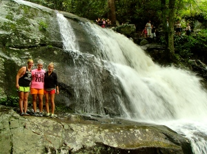 Hiking in the Smokey Mountains while on a road trip with best friends, Abbey and Beth.