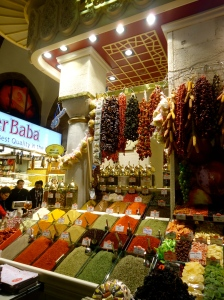 The local spice market in Istanbul, Turkey