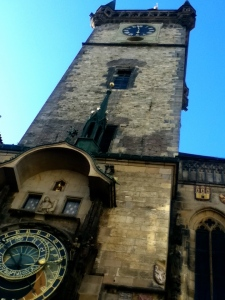 The world's oldest functioning astronomical clock in the old town of Prague