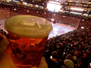 I didn't quite understand why my beer had a sippy-cup lid on it though.